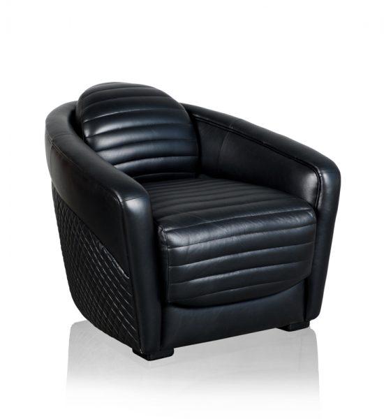 """Bentley Sabina"" Armchair - Marshall Black"