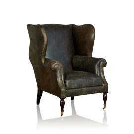 """Grandfather"" Arm Chair - Old Club Anthracite"
