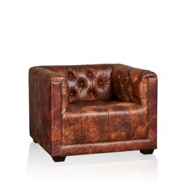 """Brooklyn"" Arm Chair - Old Club Brown"