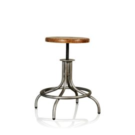 Adjustable Iron Counter & Bar Stool