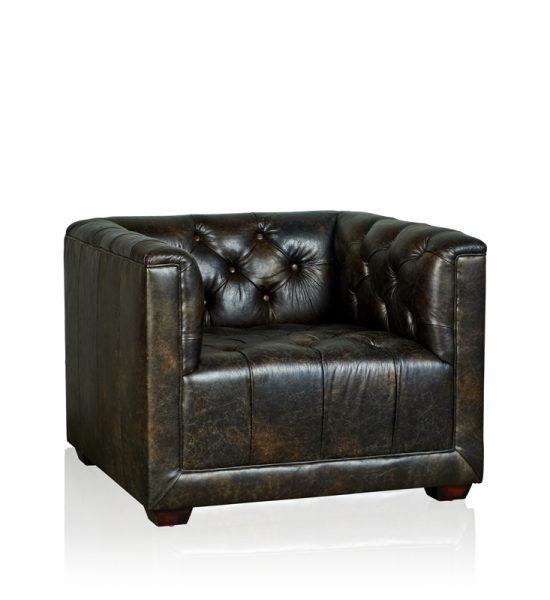 """Brooklyn"" Arm Chair - Old Club Anthracite"