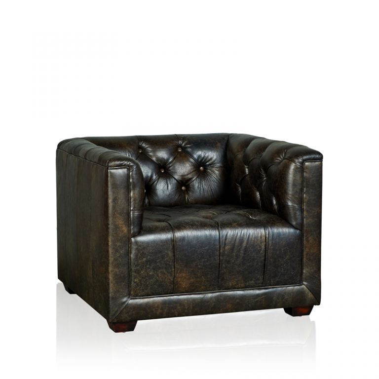 """Brooklyn"" Arm Chair - Old Club Anthracite"