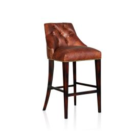 """New York"" Barstool - Old Club Brown"