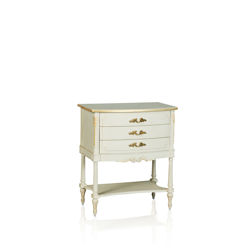 """Louis XVI"" Bedside Table - 3 Drawer"