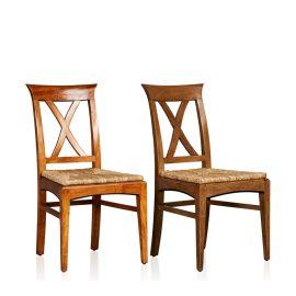 """Cross Back"" Side Chair - Rush Base"