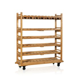 Scandinavian Pine Wine Rack