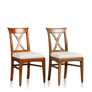 """Cross Back"" Side Chair - Upholstered Base"