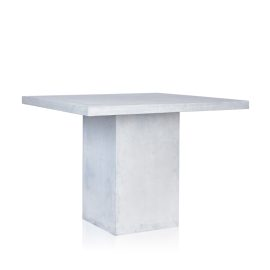 GRC Square Bar Table in Grey Matte - with GRC Base
