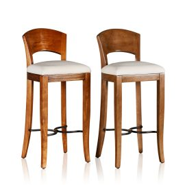 """Biedermeirer"" Bar Stool - Upholstered Base"