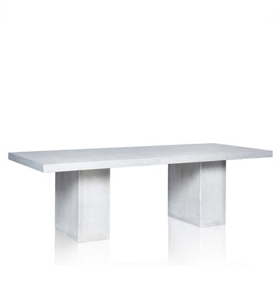 GRC Dining Table in Grey Matte- with GRC Base  - Small