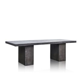 GRC Dining Table in Black Gloss - with GRC Base  - Small