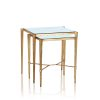 Nest of 2 Table Tables - Antique Gold