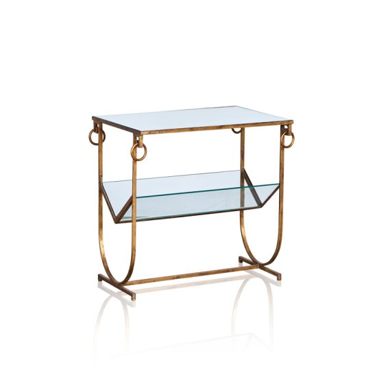 Magazine Rack - Antique Gold