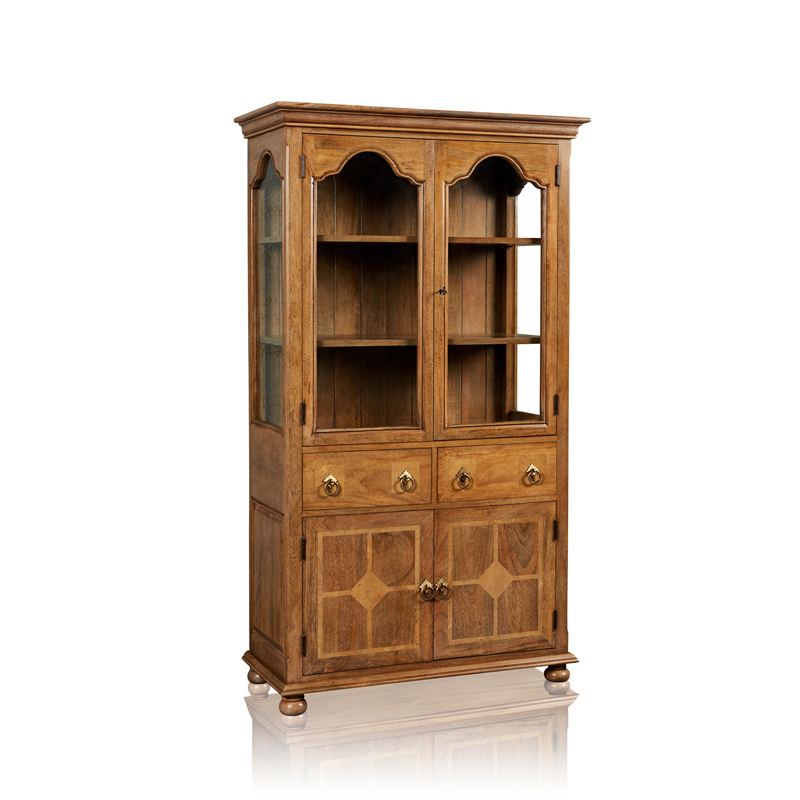 Display Cabinet - 4 Door & 2 Drawer