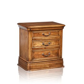 """Cordoba"" Bedside Table - 3 Drawer - White Cedar"