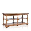 """La Rochelle"" Marble Console - English Oak"