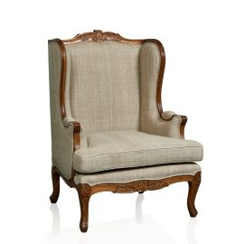 """Louis XV Bergere"" Wingback Occasional Chair"