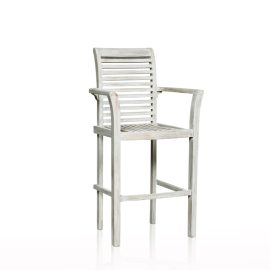 Stackable Bar Stool - Grey Wash