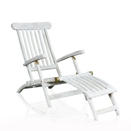 """Steamer"" Deck Chair - Grey Wash"