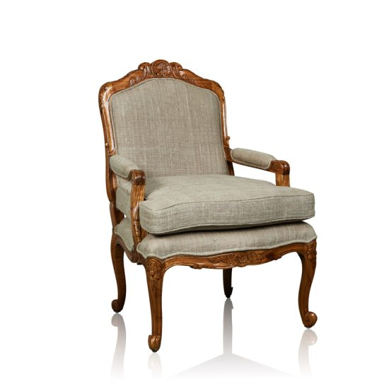 """Rocaille"" Arm Chair  - White Cedar"