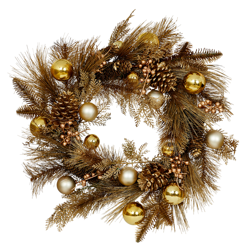 """Golden Christmas Spirit Wreath"""